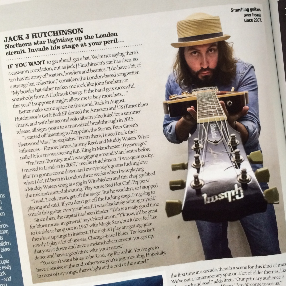 Jack J Hutchinson selected by Blues Magazine in their 'Ones to watch 2015' feature.