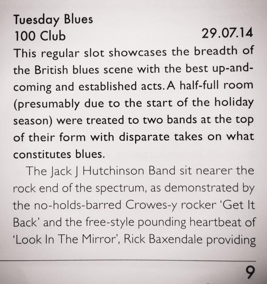 Get It Back review in Blues In Britain