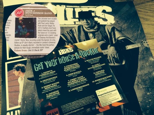 Jack J Hutchinson on Blues Magazine CD