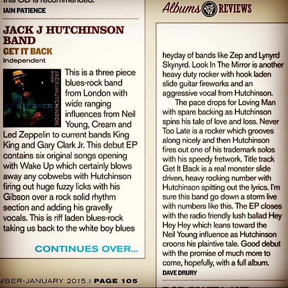 Blues Matters Review of Jack J Hutchinson