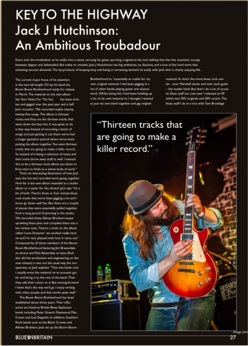 Interview in Blues In Britain